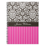 Damask & Stripes Spiral Note Book