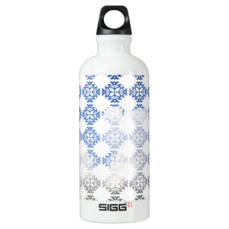 Damask Summer White Clouds + Blue Skies Aluminum Water Bottle