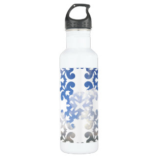 Damask Summer White Clouds + Blue Skies Stainless Steel Water Bottle