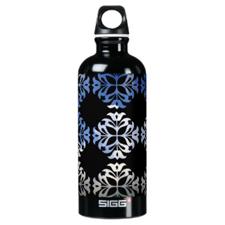 Damask Summer White Clouds + Blue Skies Water Bottle