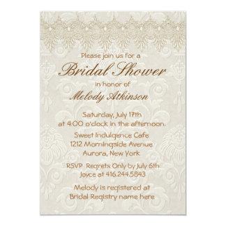 Damask Swan Elegance Ivory - Bridal Shower Card