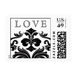 Damask Swirl Love Wedding Stamp