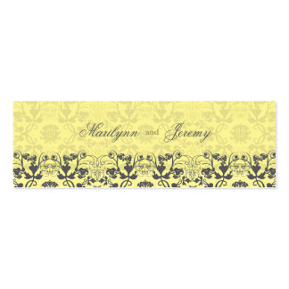 Damask Swirls Lace Butter Thank You Gift Tag Mini Business Card