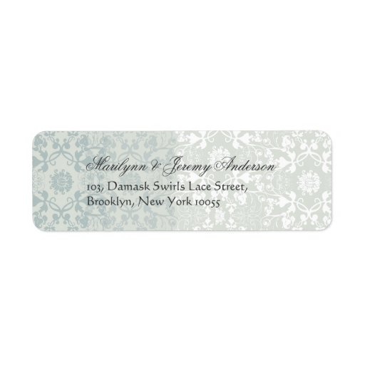 Damask Swirls Lace Dream Custom Label Custom Return Address Label