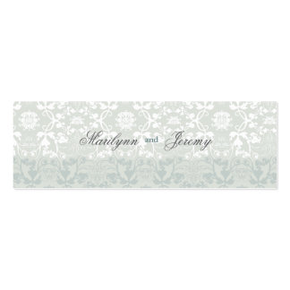 Damask Swirls Lace Dream Custom Thank You Gift Tag Double-Sided Mini Business Cards (Pack Of 20)