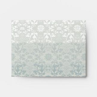 Damask Swirls Lace Dream Custom Wedding Envelope