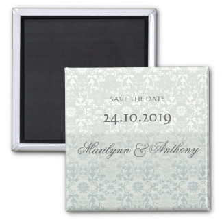 Damask Swirls Lace Dream Save The Date Magnet