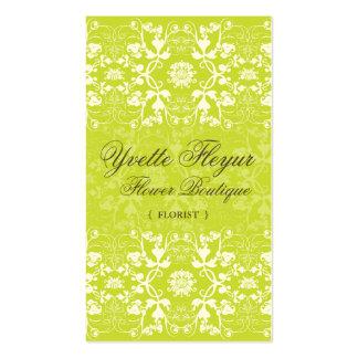 Damask Swirls Lace Lime Custom Profile Card /