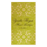 Damask Swirls Lace Lime Custom Profile Card / Business Cards