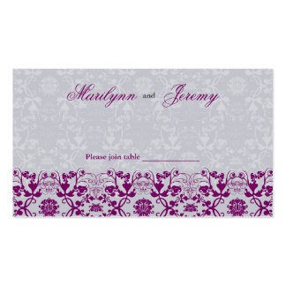 Damask Swirls Lace Orchid Guest Place Card