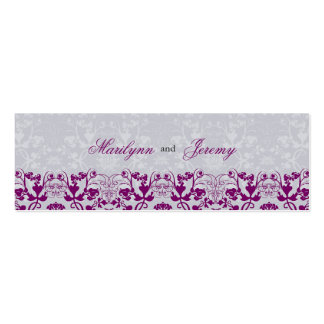 Damask Swirls Lace Orchid Thank You Gift Tag Double-Sided Mini Business Cards (Pack Of 20)