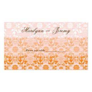 Damask Swirls Lace Sorbet Custom Table /Place Card