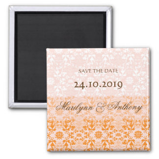 Damask Swirls Lace Sorbet Save The Date Magnet
