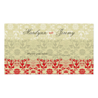 Damask Swirls Lace Spice Custom Table / Place Card