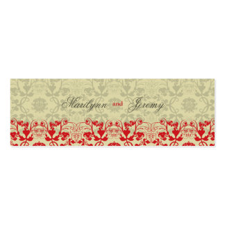 Damask Swirls Lace Spice Custom Thank You Gift Tag Double-Sided Mini Business Cards (Pack Of 20)