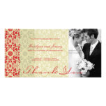 Damask Swirls Lace Spice Thank You Photo Card Photo Cards