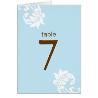 Damask Table Seating Cards