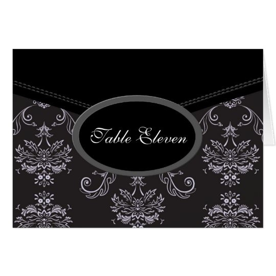 Damask Table Seating Cards | E1