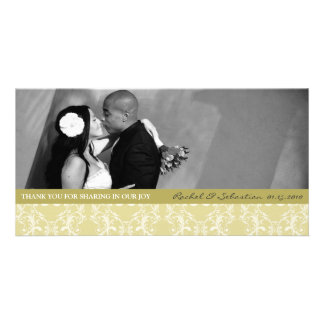 DAMASK THANK YOU CARD