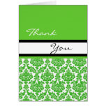 damask thank you card cards