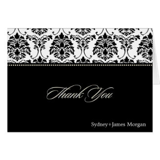 Damask Thank You Cards