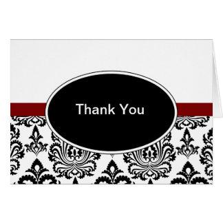 Damask Thank You Cards