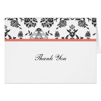 Damask Thank You Note Card