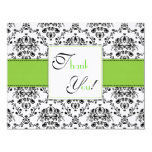Damask Thank You Panel Card