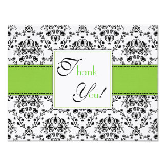 Damask Thank You Panel Card Announcement