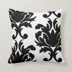 Damask Throw Pillows