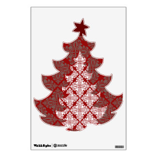 damask tree wall skin