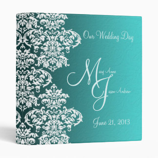 Damask Turquoise Wedding Binder