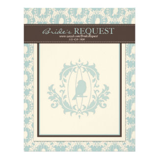 Damask Tweets Letter Head 2 Letterhead