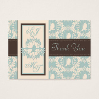 Damask Tweets TY Notecard Business Card