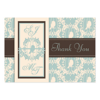 Damask Tweets TY Notecard Business Card Templates