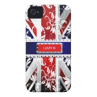 Damask Union Jack Iphone 4/4S Case-Mate Case