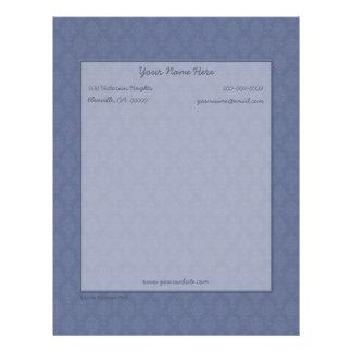 Damask Victorian Blue Tone on Tone Letterhead