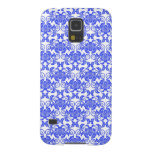 Damask vintage blue and white girly floral pattern galaxy s5 covers