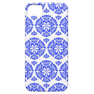 Damask vintage blue & white girly floral pattern iPhone 5 cover