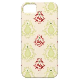 Damask vintage cherry cherries pear foodie pattern iPhone SE/5/5s case