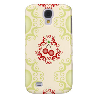 Damask vintage cherry cherries wallpaper pattern galaxy s4 cover