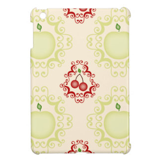 Damask vintage cherry cherries wallpaper pattern iPad mini cover