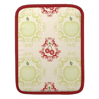 Damask vintage cherry cherries wallpaper pattern iPad sleeves