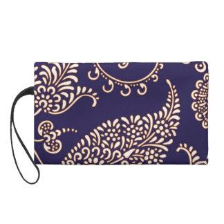 Damask vintage paisley floral chic evening pattern wristlet purse