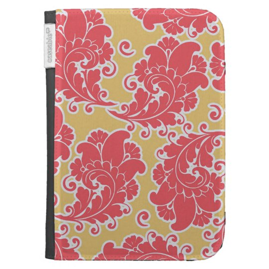Damask vintage paisley girly chic floral pattern kindle keyboard covers