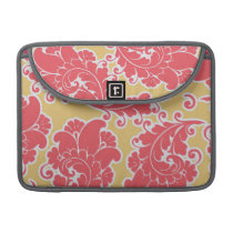 Damask vintage paisley girly chic floral pattern MacBook pro sleeve