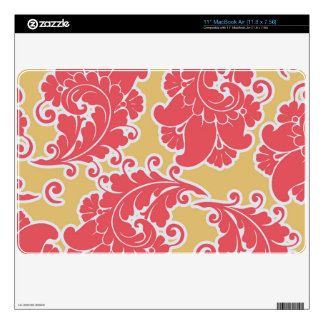 Damask vintage paisley girly chic floral pattern skin for MacBook