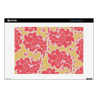 Damask vintage paisley girly chic floral pattern decals for laptops