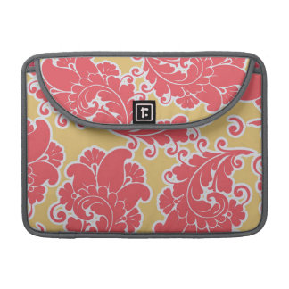 Damask vintage paisley girly chic floral pattern sleeve for MacBooks