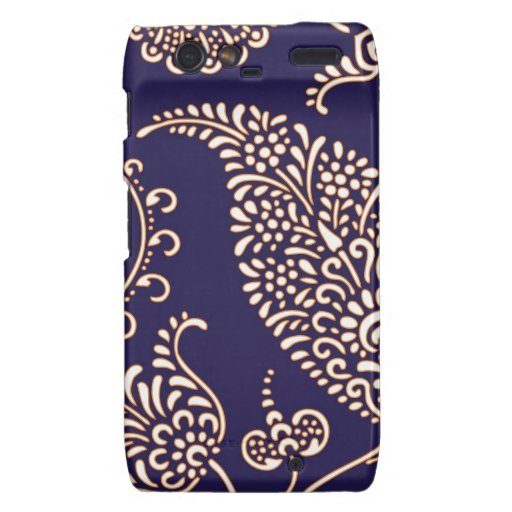 Damask vintage paisley girly floral chic pattern motorola droid RAZR case
